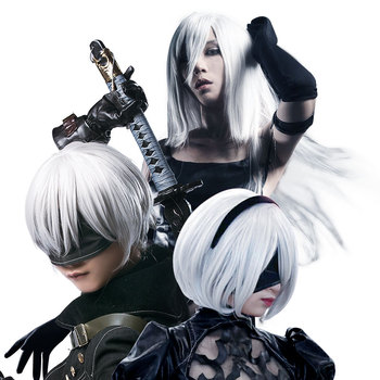 HSIU NEW High quality YoRHa No.2 Type B 2BYoRH 2A 9S 2B wig Cosplay Wig NieR:Automata Costume Play Wigs Costumes Hair hot games nier automata 9s cosplay costumes men fancy party outfits coat yorha no 9 type s full set for halloween