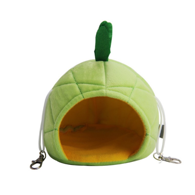 Winter Warm Pet House For Small Animals Nest Frog Pineapple Shaped Hanging Bed Hedgehogs Hamster Cages Small Breed Pets Supplies