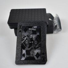 UBUY Creative Playing Cards Waterproof PVC Plastic Black