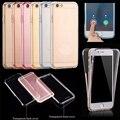 360 graus da tampa do caso para o iphone 5s 5 se 6 s 6 mais frente de volta Caso Capa Limpar TPU Soft Gel Shell Cobertura Completa Limpar Capa Case