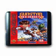 Gunstar Heroes 16 bits da Sega MD Cartão de Jogo para o Mega Drive para Genesis NTSC