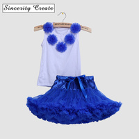 S C Children Clothes Summer Kids Girls Clothes Set T Shirt Tutu Skirt Outfits Girl Suit