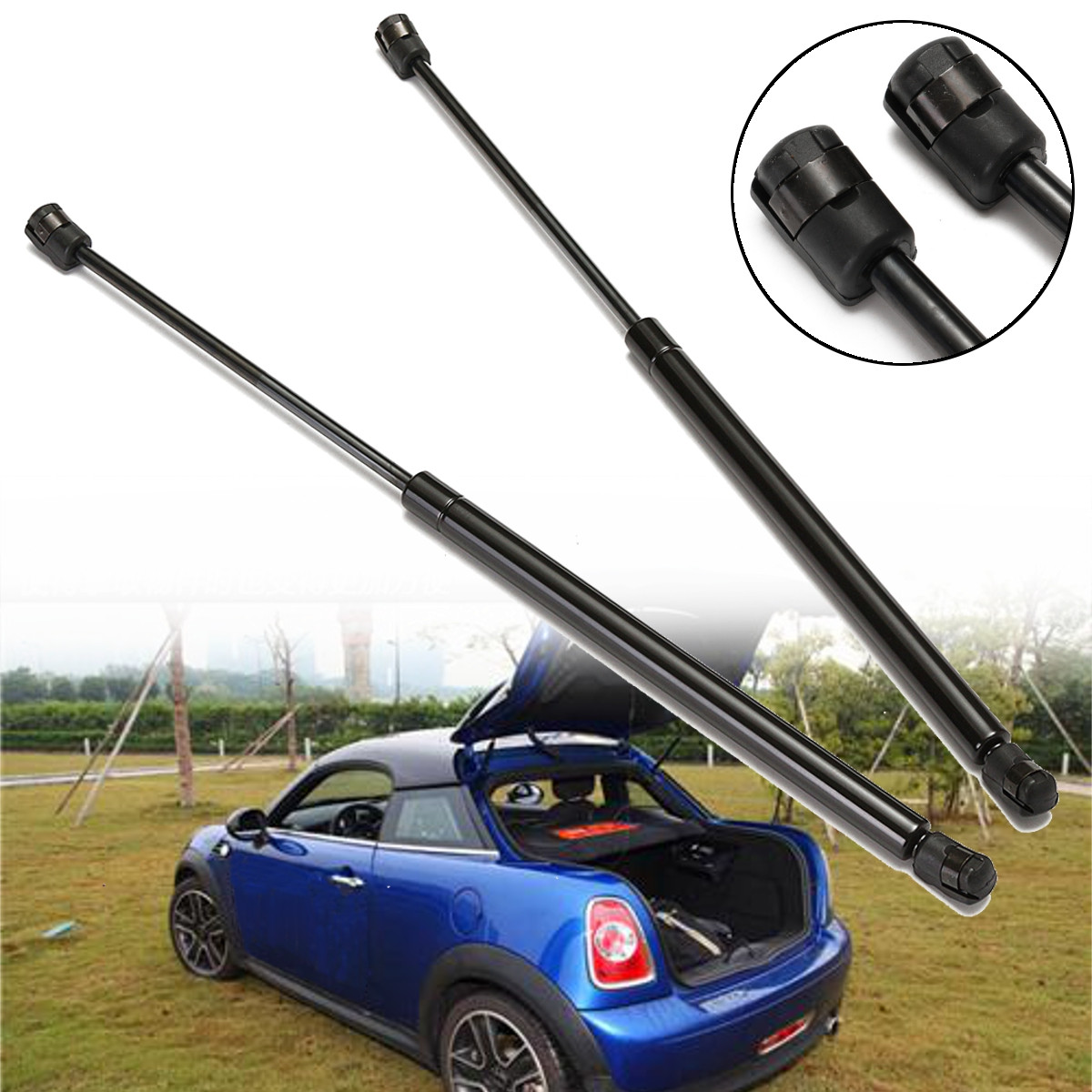 2Pcs Car Rear Tailgate Trunk Lid Gas Lift Supports For BMW for Mini Cooper 2002-2008 52CM 416268012582Pcs Car Rear Tailgate Trunk Lid Gas Lift Supports For BMW for Mini Cooper 2002-2008 52CM 41626801258