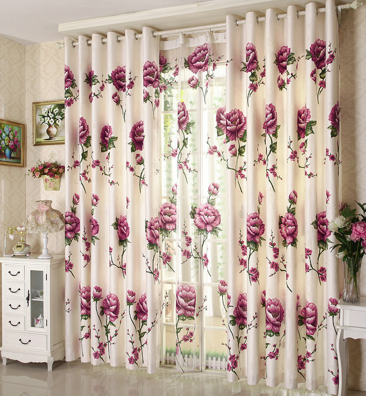 new home curtain decoration environmental printed. Black Bedroom Furniture Sets. Home Design Ideas