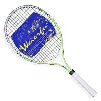 Populaire 25 inch Nieuwe Junior Tennisracket Alumium Constructie Voor Training Soft Grip Groen Gekleurde Met Cover Inbegrepen