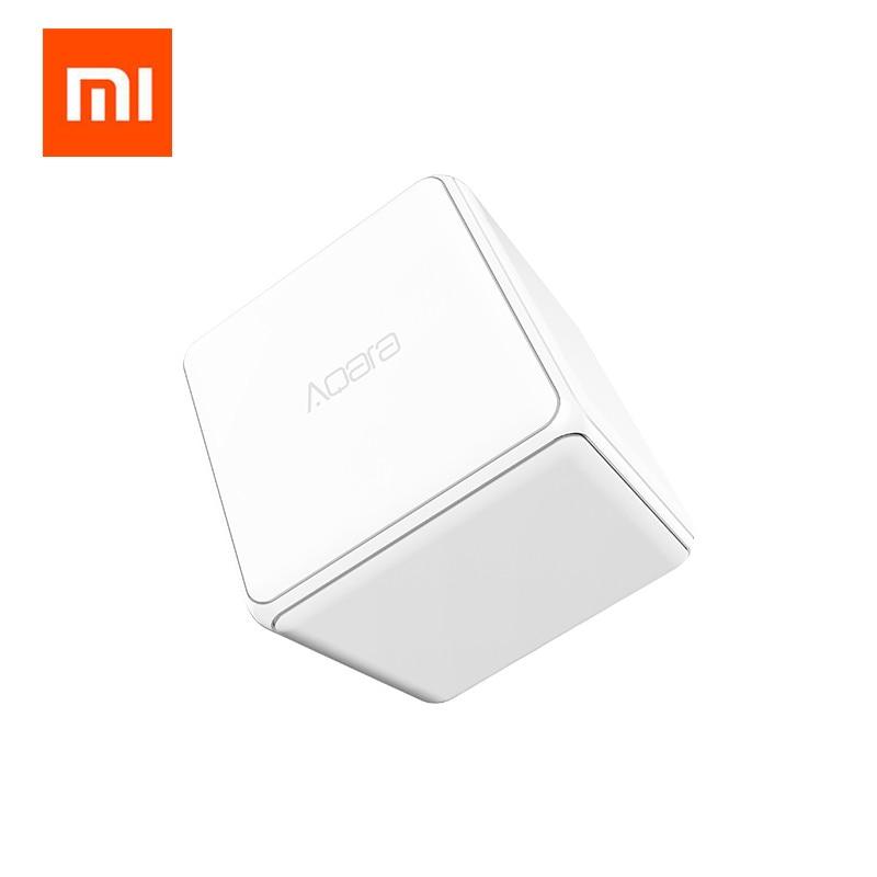 Xiaomi Aqara Mi Cube Contrôleur Zigbee Version Contrôlée par Six Actions avec Téléphone App pour La Maison Intelligente Dispositif TV Smart Socket