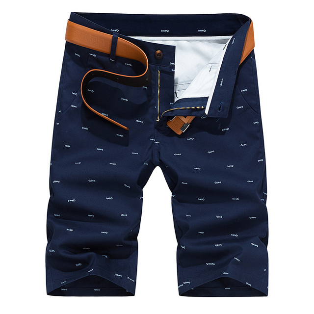 Woodvoice Brand Men Shorts Summer Fashion Solid Color Casual Male Shorts Bermuda Masculina Knee Length Plus Size 28-40 Straight