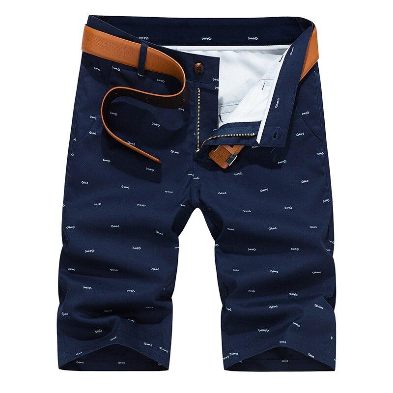 Woodvoice Marca Men Shorts Moda Verão Cor Sólida Casual Masculino Bermuda Masculina Na Altura Do Joelho Plus Size 28-40 em linha reta