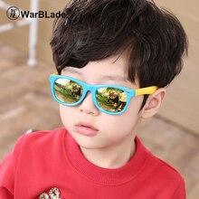WarBLade TR90, гибкие детские солнцезащитные очки, поляризационные, для детей, для детей, защитное покрытие, солнцезащитные очки, UV400, очки для младенцев, oculos de sol