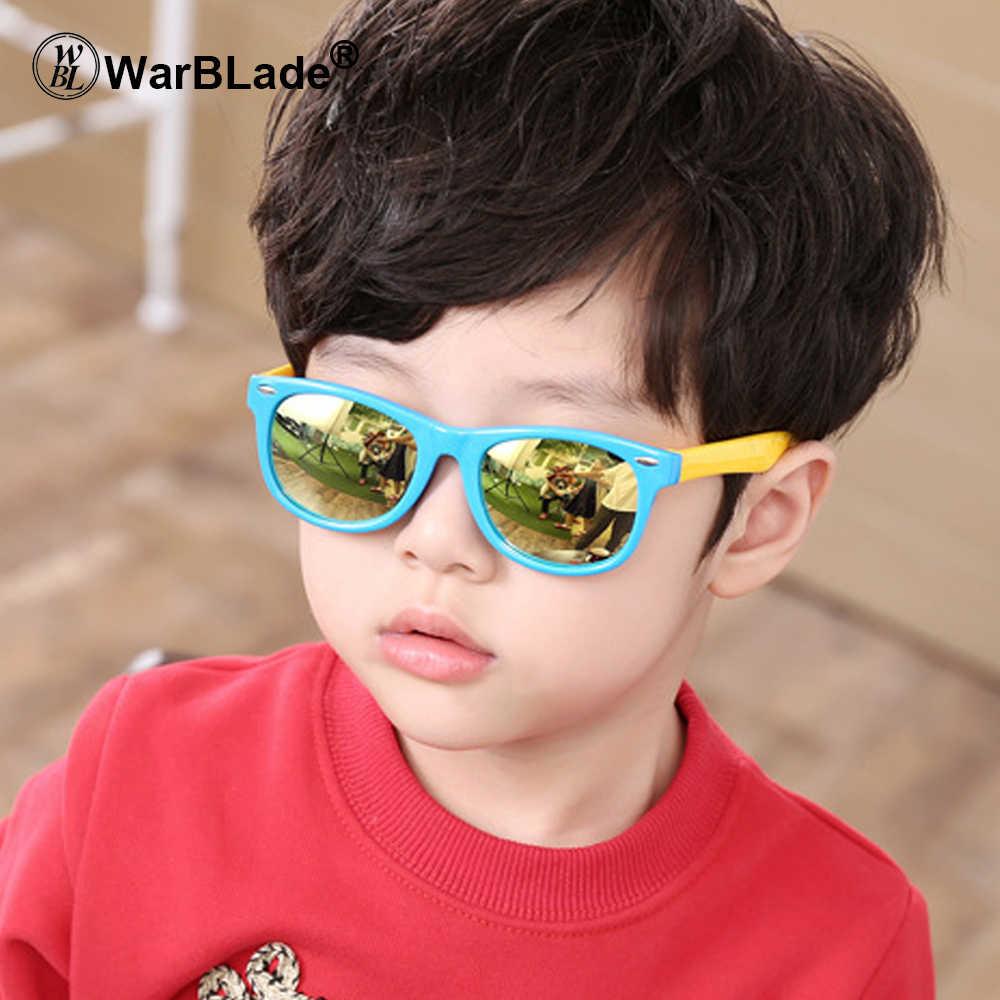 af51eda902 WarBLade TR90 Flexible Kids Sunglasses Polarized Child Baby Safety Coating Sun  Glasses UV400 Eyewear Shades Infant