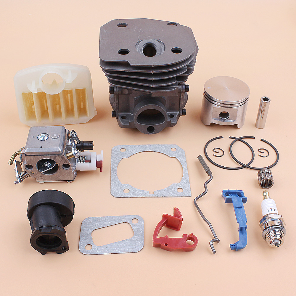 45mm Cylinder Piston Carburetor Air Filter Kit For HUSQVARNA 353 351 350 346 346XP 345 340 Chainsaw and Intake Manifold Gasket45mm Cylinder Piston Carburetor Air Filter Kit For HUSQVARNA 353 351 350 346 346XP 345 340 Chainsaw and Intake Manifold Gasket