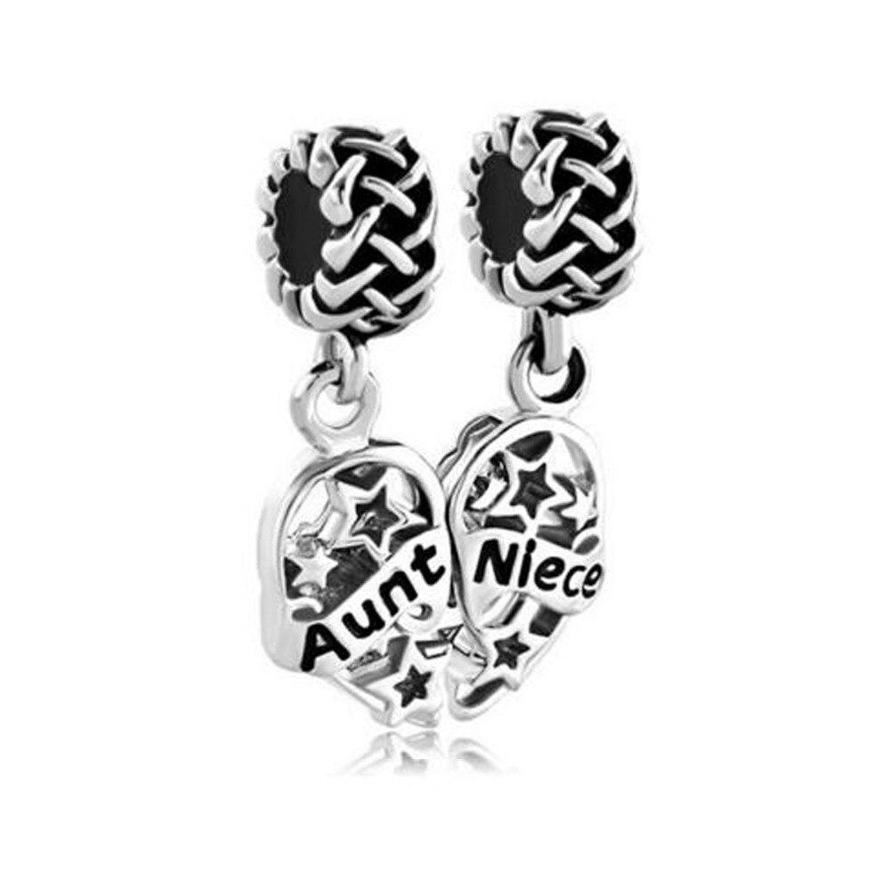 Autism Charms For Pandora Bracelets: Free Shipping Heart Autism Niece Filigree Stars Knot Charm