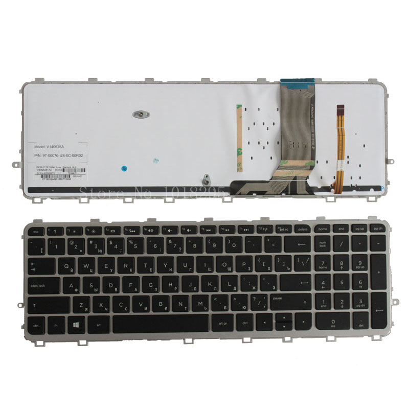 Russian Keyboard for HP 17 15 17T 15T 15T J 15Z J 15t j000 15z j000 RU black laptop keyboard with backlit