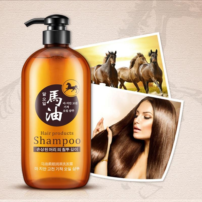 BIOAQUA 300ml Professional Hair Care Product Horse Oil Without Silicone Oil Control Nourish Anti Hair Loss Shampoo Improve Frizz