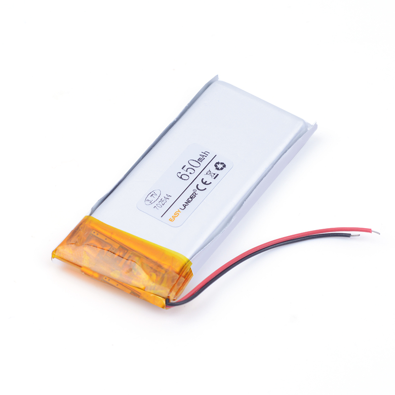 Polymer lithium battery 3.7 V,702544 650MAH can be customized wholesale FCC ROHS MSDS quality certification medical device