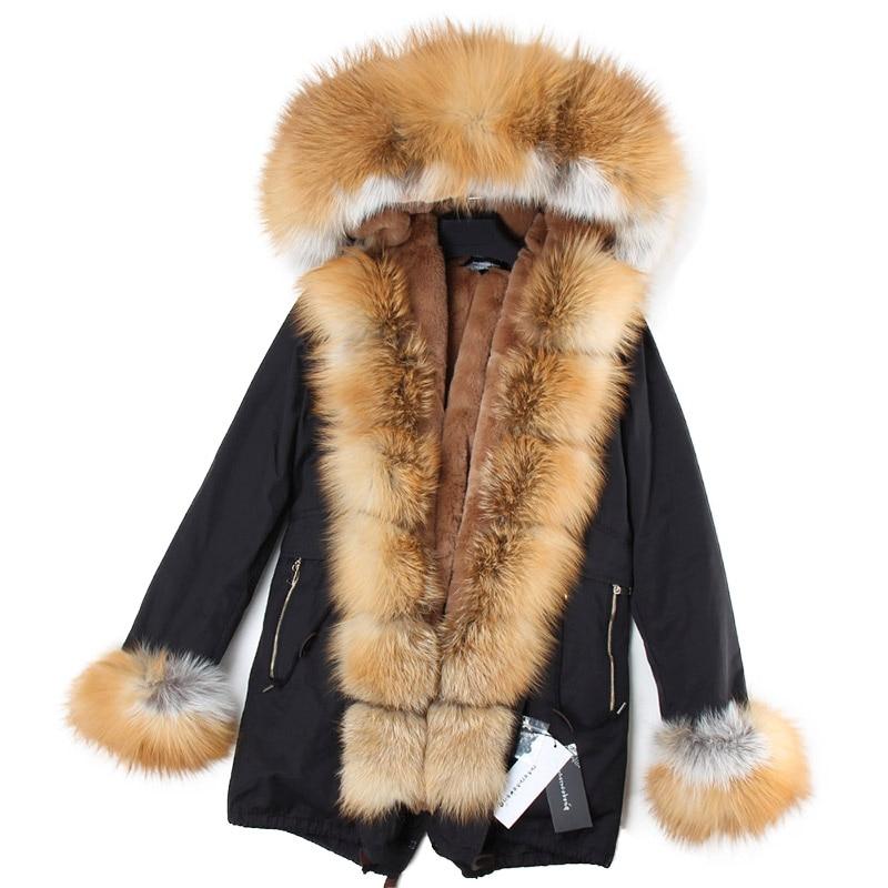 6 2018 Fourrure De 14 5 8 Parka Réel 13 Col Manteau Femmes 12 Casual Nouveaux 7 4 Veste 10 9 Doublure 11 Fausse Fox Chaud D'hiver Épais 3 En 16 15 1 2 rYax1SrBA0