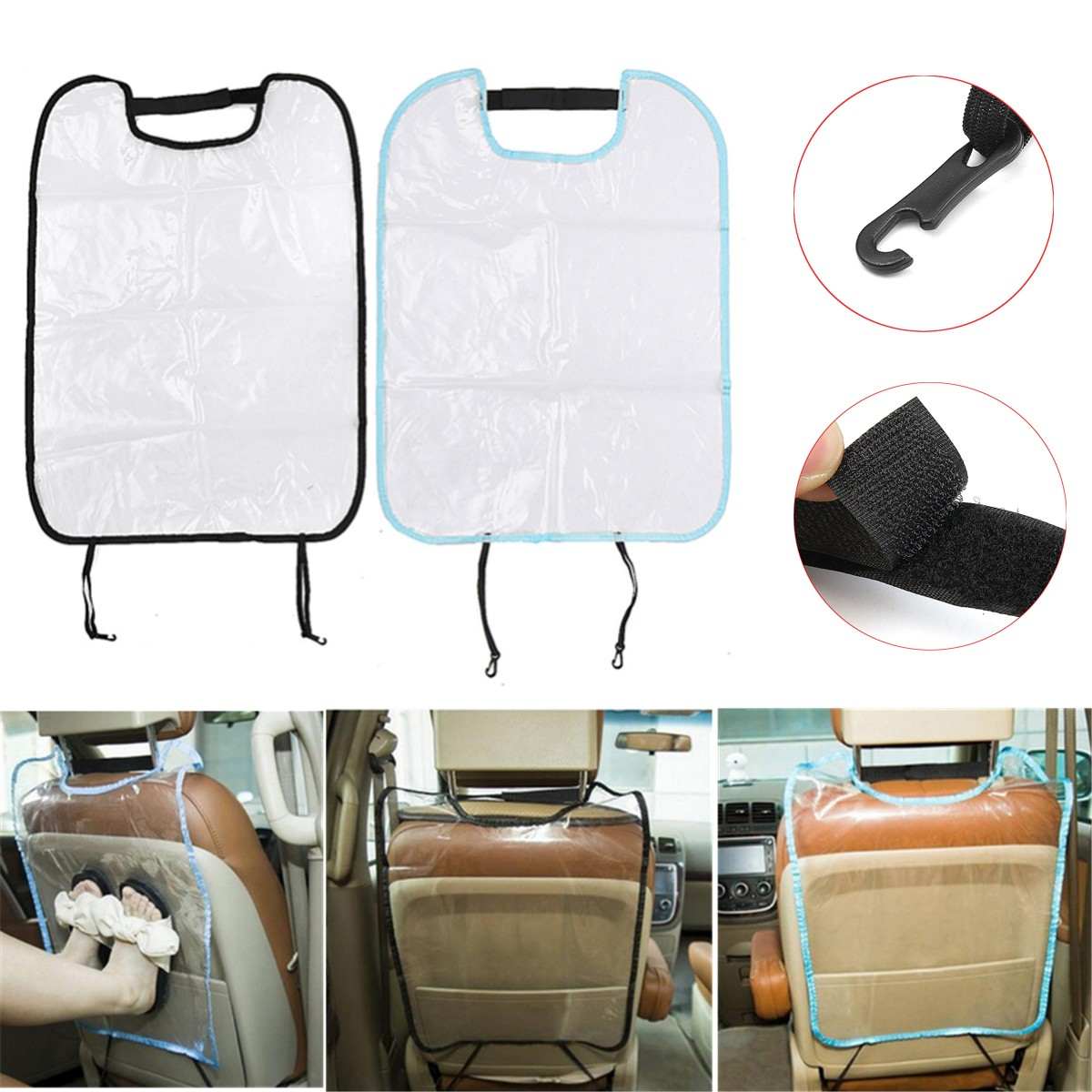 Car Auto Seat Back Protector Cover Car Seat Cover For Children Kids Kick Mat Mud Clean Waterproof Anti Child Kick Pad