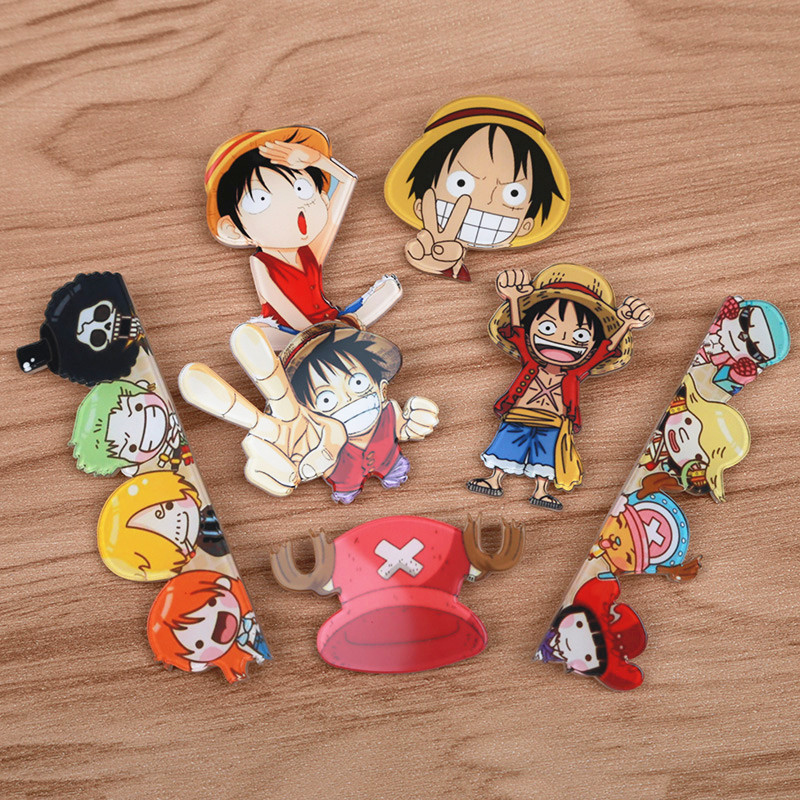 One Piece 1 Piece Monkey D Luffy Chopper Brooch many cute expression badge pin Japan Popular anime Cosplay game role funny bedge ...