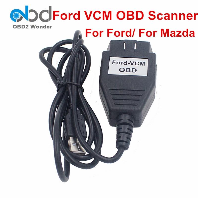 Prix pour Fortement Recommandé VCM 2 VCM II OBD2 Câble De Diagnostic Pour Ford VCM2 pour Mazda VCMII OBD Outil D'analyse Focom Mini Version de VCM IDS
