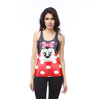 Hot Sale Print Character Cropped Crop Top Summer Limited Sexy Cute Cartoon Camisole Mouse Tanks Women Female Sleeveless O-neck