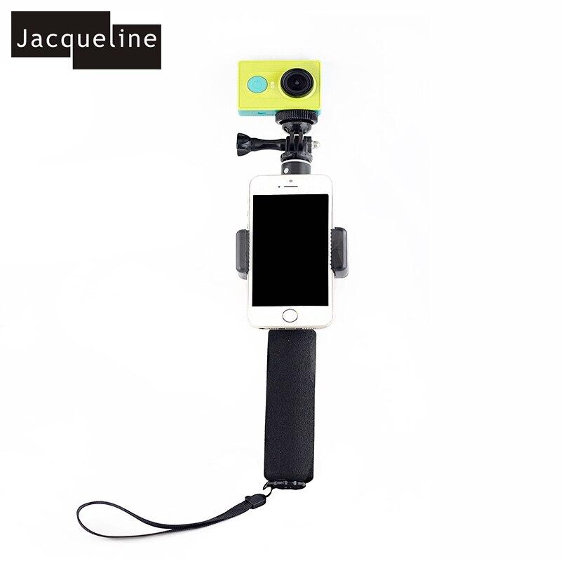 Conjunto de accesorios para go pro hero 6 5 4 3 kit selfie stick monopod para Eken h8r h9r para xiaomi yi caso de EVA - 2