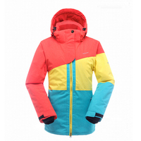 2016 Authentic Female Models Outdoor Winter Assault Keep Warm Windproof Ski Jackets Climbing Ropa Ski Mujer
