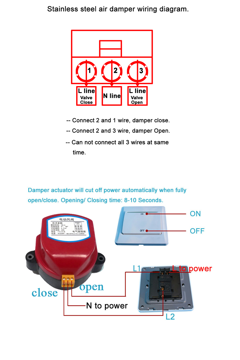 Buy Actuator For Air Damper Valve Electric Duct Wiring Diagram 05