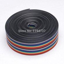 Ribbon Cable 20 WAY Flat Color Rainbow Ribbon Cable Wire Rainbow Cable 20P Ribbon Cable 1.27MM pitch 5meters/lot IN STOCK