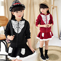 Crianças 2015 Hitz grandes meninas virgens longos casuais-lojas de fábrica de mangas compridas com capuz