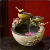 Домашний декор китайские счастливые украшения Аквариум воды особенности распыления увлажнитель бонсай фэн шуй фонтан soulmate