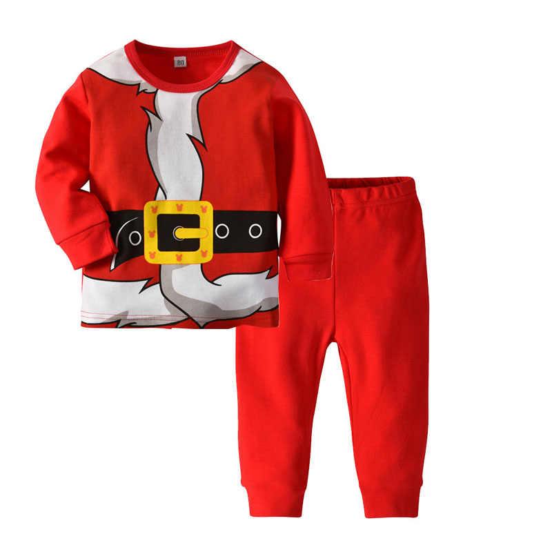 Winter Weihnachten Santa Claus Cosplay Kinder Junge Pijama Menino Infantil Pyjama Garcon Pyama Jongen Kleinkind Pyjamas für Jungen 2-6Y