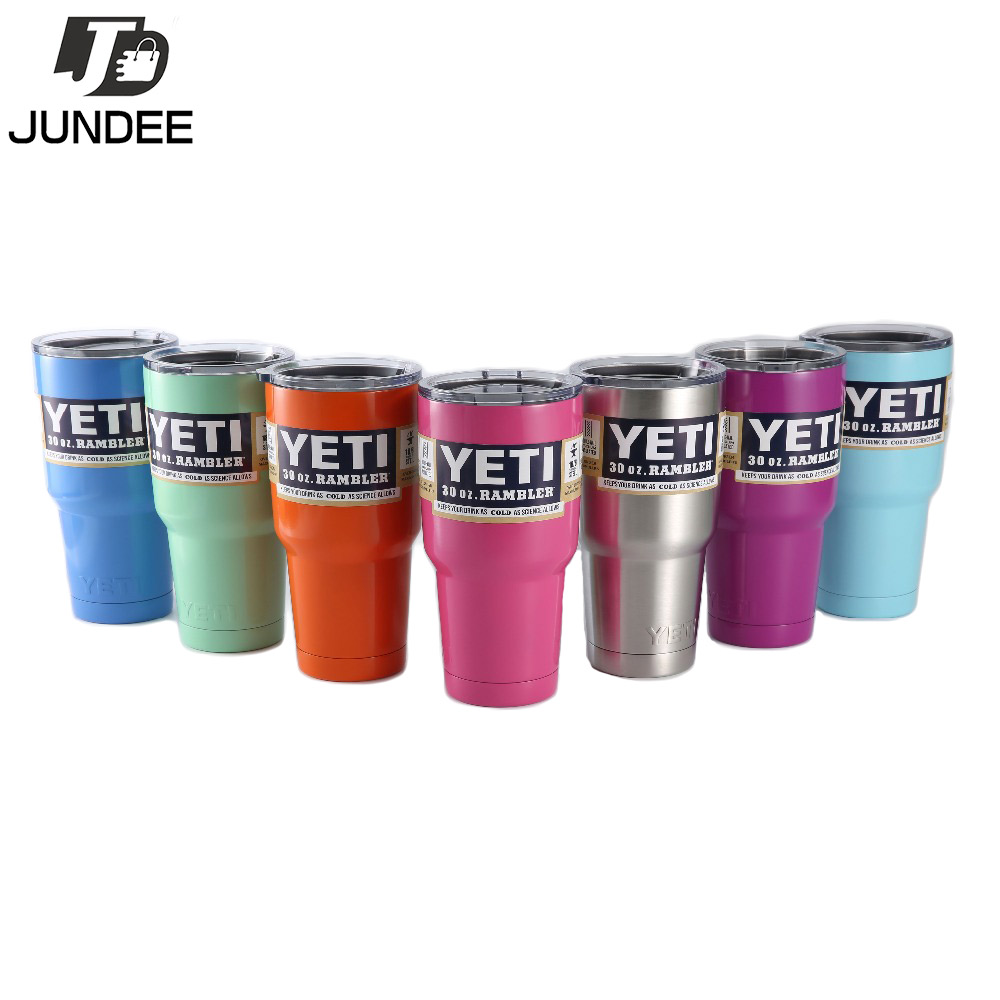 <font><b>2016</b></font> <font><b>Hot</b></font> <font><b>Sale</b></font> <font><b>YETI</b></font> <font><b>Rambler</b></font> <font><b>Stainless</b></font> <font><b>Steel</b></font> 30 oz <font><b>Yeti</b></font> Cups Bilayer orange purple Color Insulation Mug Keep Drink Cold Mugs