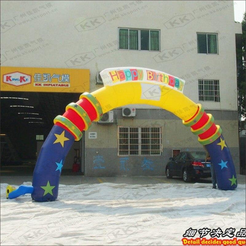 Arc gonflable de voûte gonflable de publicité de fête d'anniversaire
