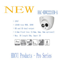 Free Shipping DAHUA Security Camera 2MP FULL HD WDR HDCVI IR Eyeball Camera IP67 Without Logo HAC-HDW2221EM-A