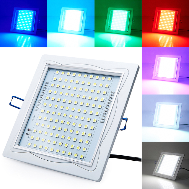 Sound Control SMD5050 120RGB LED Strobe Ceiling DownLight For Disco Party DJ Club Home Lamp Music Show Projector Stage Lighting