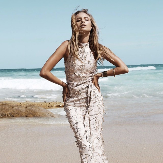Image result for TASSEL MAXI MERMAID MESH LONG DRESS