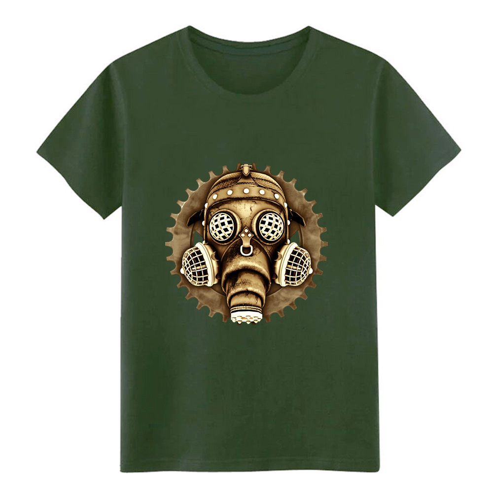 T-shirts Summer Fashion Men Cotton T Shirts Gas Mask Skull Man Round Neck Tops Black Size S-3xl Women Tshirt Back To Search Resultsmen's Clothing