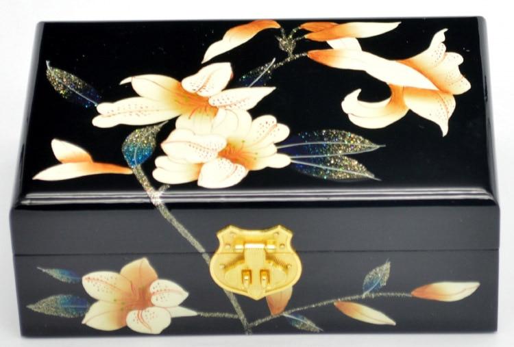 PingYao Shanxi chine main pousser laque légère laque chinoise boîte à bijoux mallette de rangement artisanat en bois traditionnel décor de mariage - 6