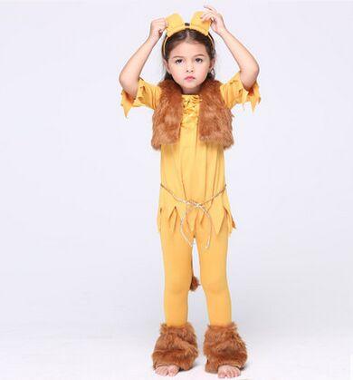 Детские костюмы льва для девочек, Костюм Льва на Хэллоуин, милые костюмы с животными для детей, одежда на Хэллоуин