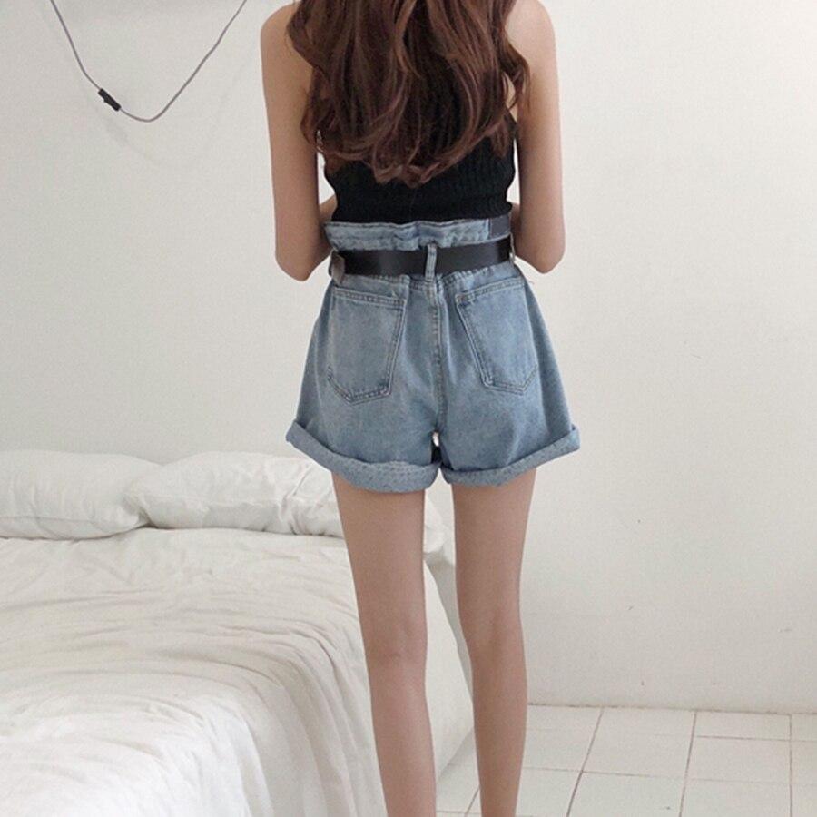 b83a74a90b Ancho La De Suelta Pierna Vintage Pantalones Rizado Cortos Mujer axztwp