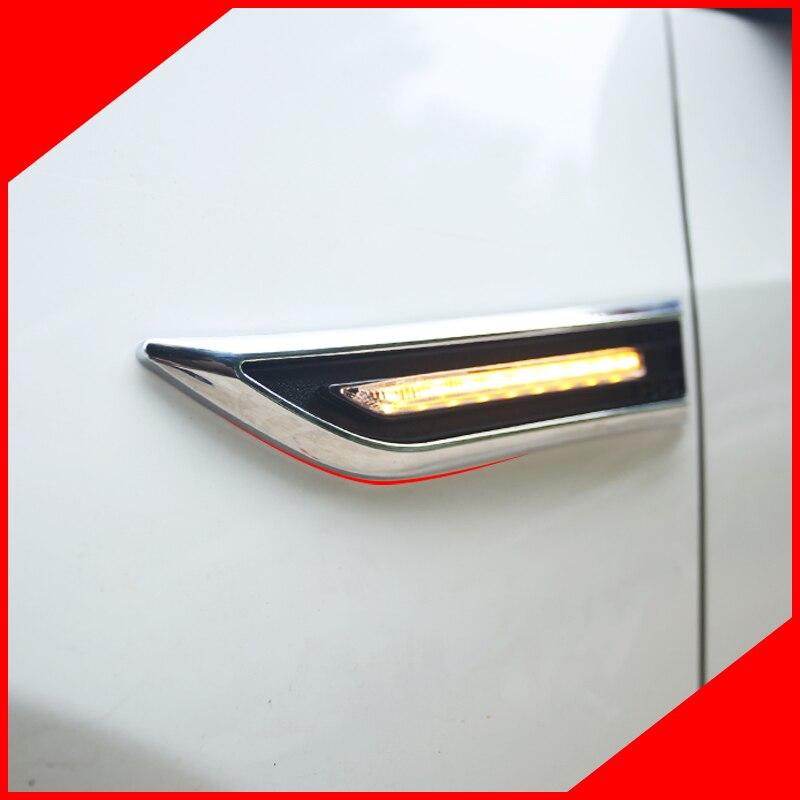 Otomobiller ve Motosikletler'ten Araba Çıkartmaları'de Küçük bir değişimi Led yan dönüş sinyalleri ön dönüş ışığı etiket Chevrolet Chevy Cruze 2009 2012 için 2013 2014 2015 title=