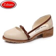 купить Plus Size Shoes Women Flats 2019 Fashion Woman Loafers Round Toe Oxford Shoes Women Square heel Shallow Single Shoes Size 35-43 дешево