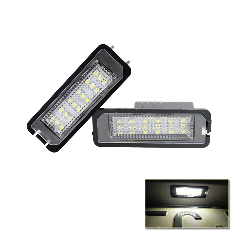 цена Canbus No Error Car Rear Number License Plate Led Lights For Volkswagen VW Golf GTi MK5 MK6 For Skoda Superb For Seat Altea Leon