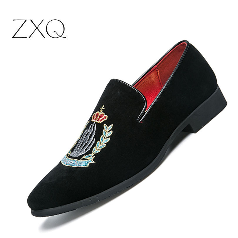 Luxury Brand Men Loafers Shoes Top Quality Back Shoes Fashion Embroidery Men Velvet Loafers Casual Driving Shoes Men цена