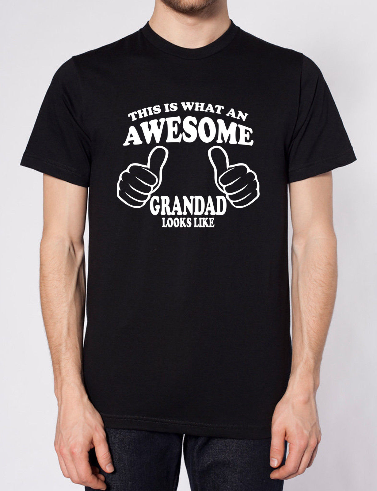 THIS IS WHAT AN AWESOME GRANDAD LOOKS LIKE T SHIRT FATHERS DAY XMAS GIFT PRESENT
