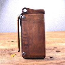Echtes Leder Männer Brieftaschen 100% Rindsleder Herren Brieftasche Handmade Vintage-stil Geldbörsen Aus Echtem Leder Kurzen Handtasche Großhandel Einzelhandel