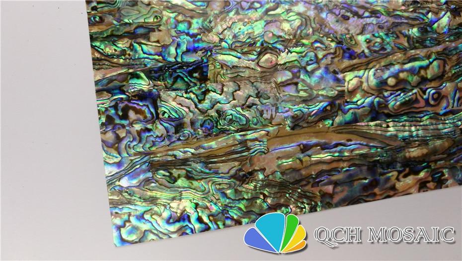 Купить с кэшбэком AAA grade New Zealand paua abalone shell laminate sheet for musical instrument and wood inlay green color