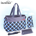New Arrival  Free Shipping Fashion Baby Diaper Bag Multifunctional Nappy Bags Waterproof Changing Bag Mommy Bags