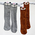 High Quality Lovely 3D Fox Anti Slip Socks Baby Leg Warmers Kids Socks Non-slip Cotton Animal Knee High Girls Socks