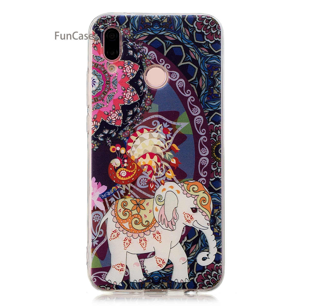 8fcbb405d97 ... Lovely Unicorn Phone Case sFor Carcasa Huawei P20 Lite Soft TPU Back  Cover Carcasas Squishy Flip ...